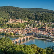 Panorama view of Heidelberg